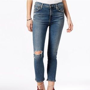Citizens of Humanity Blue Ripped Skinny Jeans